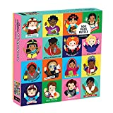 Mudpuppy Little Feminist 500 Piece Jigsaw Puzzle for Kids and Adults, Feminist Puzzle Celebrates Women Who Have Made an Impact with Colorful Illustrated Portraits, Great Gift for Feminists