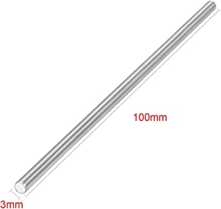 EKIND 10pcs Stainless Steel Round Axles Shaft Rod/ Straight Metal Round Shaft Rod Bars for DIY Model Toy, RC Car, RC Helic...