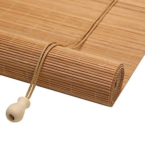 Estor Enrollable Cortina de Bambú Persiana Enrollable para Puerta de Patio, Estilo Rústico Retro, Blackout Shutter, Cortinas de Decor del Hogar (Size : 100×240cm)