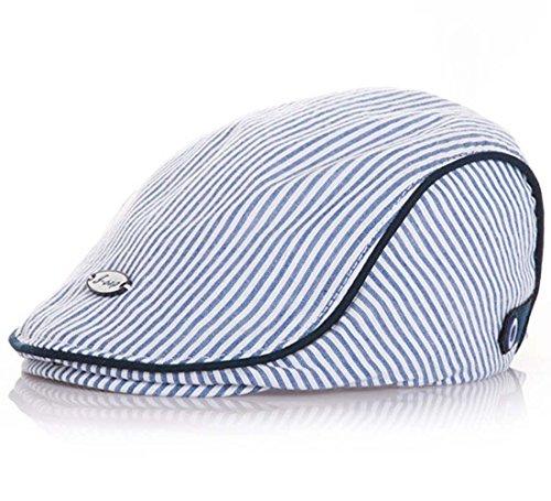 Baby Kids Kappe Hut Cap Kinder Baskenmütze Mütze Berets Schirmmütze (Blau)