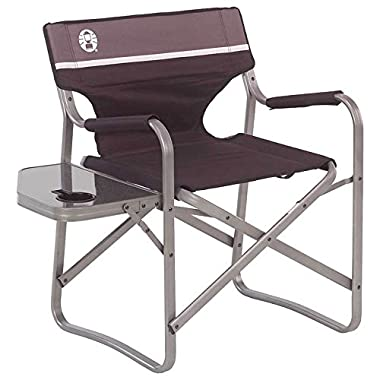 Coleman Portable Deck Chair with Side Table (Black / Gray)
