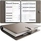 LUX Productivity PRO A5 Planner – Best Undated Diary/Organizer - Daily Schedule & Reflection Journal - Manage Time/Projects/Finances/Goals/Gratitude/Happiness - (Cappuccino)