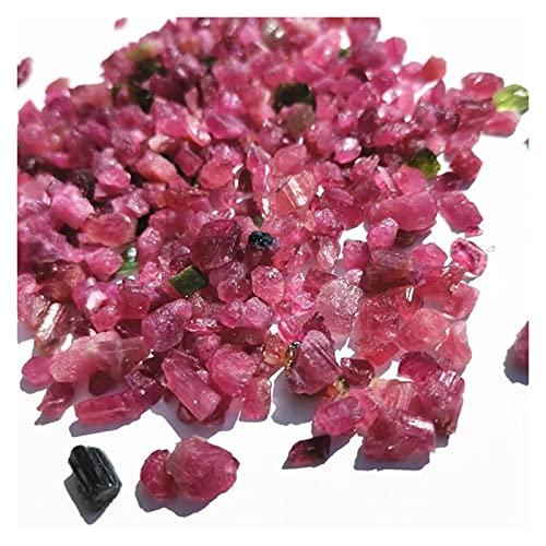 HONGYMY Cristales curativos Piedras topalinas ásperas Naturales Chips de Piedra de Cristal Crudo para la decoración de la pecera (Color : 200g)