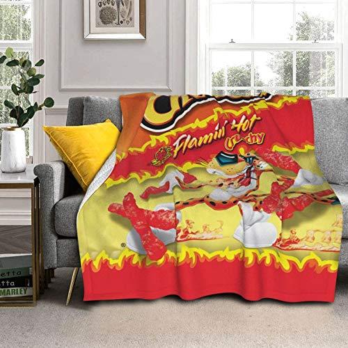 Ch-ee-TOS Essensdecke mit lustigem Tiermotiv, Lammwolle, flauschig, gemütlich, Doppelbettgröße, luxuriös, gemischt, Samtdecke, passend für Couch, Heimdekoration, Stuhl, 152,4 x 127 cm
