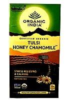 オーガニック インディア&ファブインディア トゥルシー ハニー カモミール TULSI 【 HONEY CHAMOMILE 】 紅茶 25袋入り [並行輸入品]