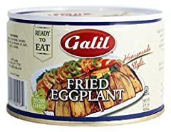 Pack of Twelve, 14-Ounce Cans (Total 168 oz) Fried Eggplant in Homemade Style Sauce All Natural, No Preservatives, No Additives Ready to Eat; Enjoy this traditional recipe as an appetizer or entrée; Certified Kosher Product of Turkey