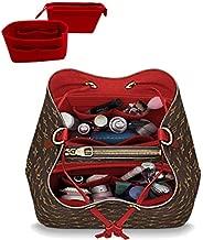 LEXSION 2-Pack Felt Handbag Organizer,Insert purse organizer Fits LV Neonoe Perfectly Red M