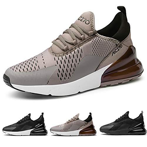 Ufatansy Herren Sportschuhe Damen Trainer Air Turnschuhe Atmungsaktiv Laufschuhe Freizeitschuhe Leichtes Sneaker Outdoorschuhe (41 EU, M-Brown)