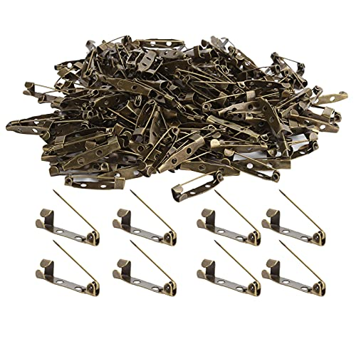 200 piezas de pasador de bloqueo, pasadores de barra de metal, broches para insignias, fabricación de ramilletes, etiquetas de nombre, alfileres de juguete y fabricación de joyas(2.5cm)