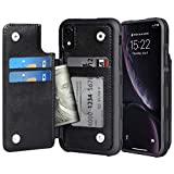 Migeec Coque iPhone XR - Housse en Cuir PU [Antichoc] Housse de Protection arrière Etui pour iPhone...