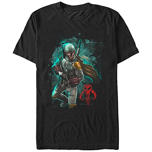 Star Wars Men's Mandalorian Warrior Graphic T-Shirt, Black, 3XL