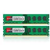 Kuesuny 8GB Kit (2 X 4GB) DDR3 1333MHz DIMM PC3-10600 PC3-10600U 2RX8 CL9 1.5v (240 PIN) Non-ECC Unbuffered Desktop Memory RAM Module Compatible with Intel AMD System