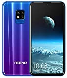 TEENO Moviles Libres 4G,6.2 Pulgadas 3GB RAM+32GB ROM Una Camara,Dual Micro SIM,SD Card,Android Smartphone Libres (Púrpura)