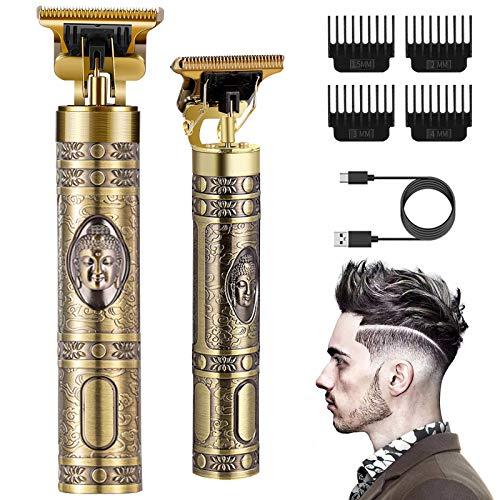 Tagliacapelli Uomo Professionale,Tagliacapelli 0 mm con 4 Pettini Diverse Lunghezze.Trimmer Capelli Elettrico per Uomo.Macchinetta per Capelli,Impermeabile Barbiere Barba (D'oro)