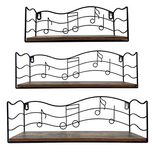 Music Themed Floating Shelves
