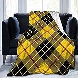 YCKNJYSG Scots Style Clan Macleod of Lewis Tartan Plaid Fleece Throw Blanket Cozy Couch Bed Sofa Blanket, 60'' X 80''