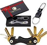 Schlüssel Organizer - Kompakt Schlüsselorganizer Carbon - Premium Schlüsselbund-...
