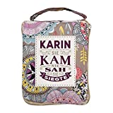 History & Heraldry Design Top Lady Tasche: Karin/Einkaufstasche, Strandtasche, Sporttasche, Blumenmuster/vielseitig, praktisch, personalisiert mit Name und Spruch
