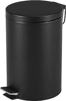 【BLKP】 パール金属 フタがゆっくり閉まる ペダルペール ゴミ箱 12L 限定 マットブラック BLKP 黒 N-7817
