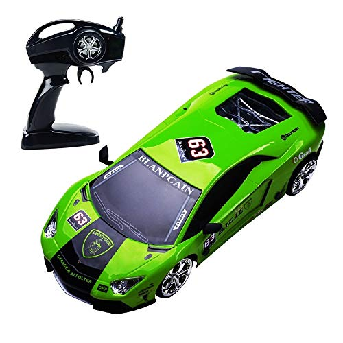 BSQS1 Electric RC Car Super GT RC Sport Racing Drift Cars 2.4GHz 39Km/h High Speed Control Vehicle for Adults Kids Gifts 4WD Rofessional RTR Vehicle with Drift Tires 1:16 Scale Remote Control Sport Ca