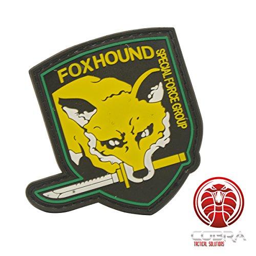 Cobra Tactical Solutions FOXHOUND Special Force Group 3D PVC Patch Gelb mit Klettverschluss für Airsoft Paintball für Taktische Kleidung Rucksack
