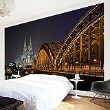 Apalis Vliestapete Kölner Dom Fototapete Breit | Vlies Tapete Wandtapete Wandbild Foto 3D Fototapete für Schlafzimmer Wohnzimmer Küche | mehrfarbig, 94685