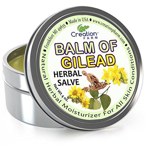 Creation Farm Balm of Gilead Salve - Large 4 Oz Tin - All Botanical Balm of...