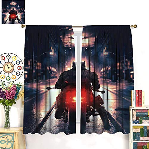Petpany Batman The Dark Knight Gotham Movie Decoración de cortina de lujo, 214 x 214 cm, cortinas oscuras en la habitación aislada de la sala de estar. Cortinas de dormitorio