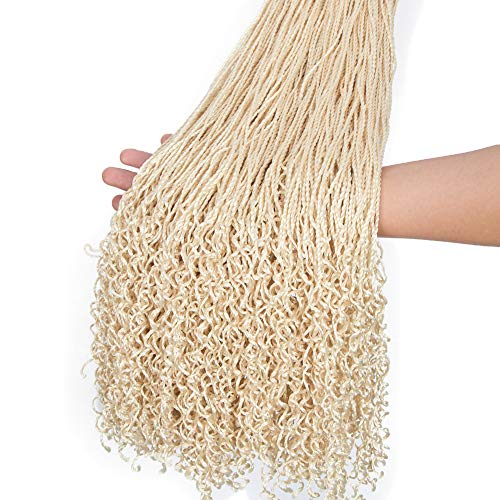 "FASHION IDOL Small Senegalese Twist Crochet Hair with Curly Ends 26"" 6 Packs Long Havana Mambo Twist Braids for Black Women Blond 613"
