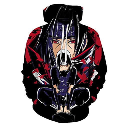 CHENMA Hommes Naruto 3D Imprimer Pull Sweat à Capuche avec Poche Kangourou (Étiquette XL/EU L, Couleur 37)