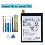 Vvsialeek Batería LIS1593ERPC 3100mAh compatible para Sony Xperia Z5 E6603 E6653 E6633 E6683 con kit de herramientas