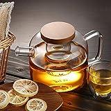 LHQ-HQ Juegos de té de vidrio s hervidor de 450 ml ese estilo nuevo práctico resistente al calor de vidrio limón flor oficina kung fu té set casa bebedero café té té té