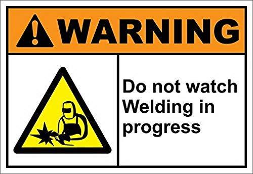 Welding Area Sign Hazard Plaque Shop /& Garage Decor Unique Danger Warning