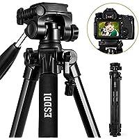 ESDDI Trípode Cámara 170cm Trípode Liviano de Aluminio de con Soporte para Teléfono Compatible para Cámara Digital SLR Canon Nikon Sony Olympus DV con Bolsa de Transporte