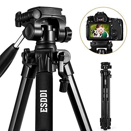 Treppiede - ESDDI 170 cm Treppiedi Fotocamera Alluminio Compatto Treppiede Leggero Per Canon Nikon Sony Olympus DSLR DV Comprensivo di Borsa per il Tr