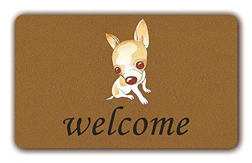 PeteGray Chihuahua Felpudo divertido interior exterior antideslizante para puerta delantera alfombrillas para el pasillo alfombra de baño Mast para niños 40x60 cm