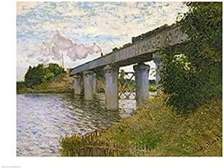 Posterazzi The Railway Bridge at Argenteuil c.1873-4 Poster Print by Claude Monet (24 x 18)