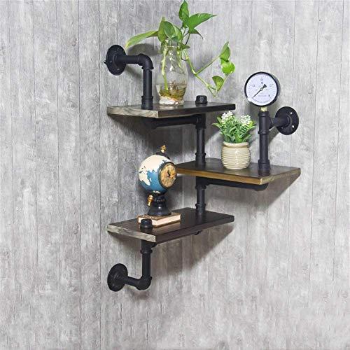 Regale Moderne Holzleiter Storage Rack 3-Story Retro Wand-Rohr Design DIY Regal Industriebücherregal Für Heim Handtuch