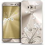 Caseink - Coque Housse Etui pour ASUS Zenfone 3 ZE520KL (5.2) [Crystal Gel HD Collection Summer Design Papillons - Souple - Ultra...
