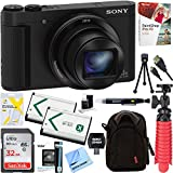 Sony Cyber-Shot HX80 Compact Digital Camera with 30x Optical Zoom (Black) + a SDHC 32GB UHS Class 10 Memory Card + Accessory Bundle