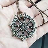 VFDGB Rueda De Barco Samsara Budista Y Amuleto Colgante Collar De Buda Dharma Joyería India Religiosa