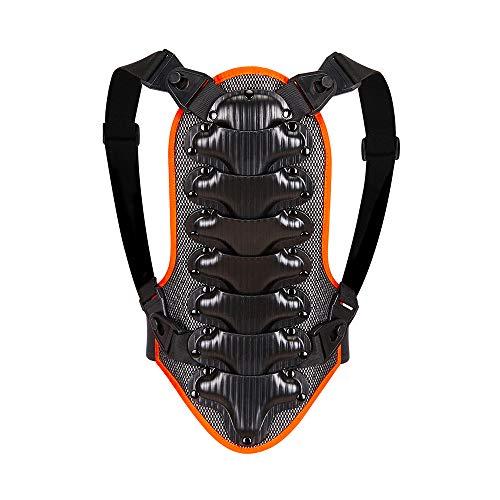 WOSAWE Rückenprotektor für Kinder und Jugendliche, Einstellbar Atmungsaktiv Wirbelsäulenschutz für Motocross Motorrad Ski Snowboard Skating M