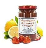 Marmellata di Limoni e Fragole dei Frati Carmelitani Scalzi - Vasetto 230 gr (Confezione da 6 Pezzi)