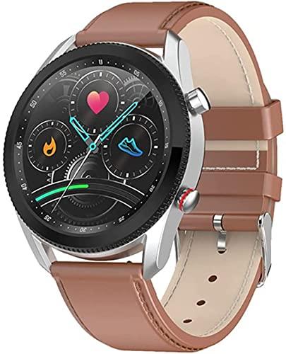 Smart Watch L61 Business Casual Uomini s Orologio Quadrante Girevole Per Interruttore Funzione Interfaccia Rotonda Uomini s Orologio per Android Ios-B