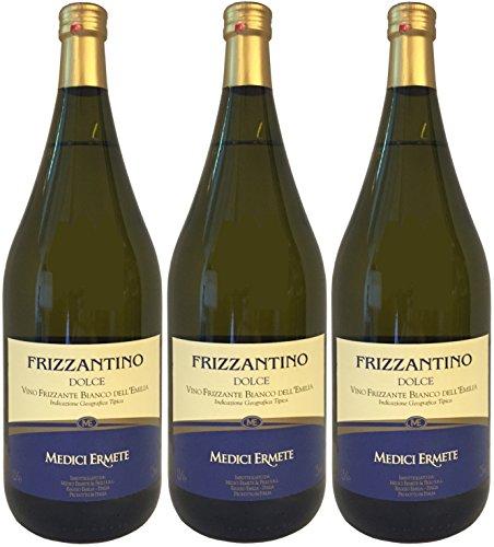 FRIZZANTINO-Bianco-DellEmilia-IGT-dolce-MEDICI-ERMETE-3-X-150-L-Weisser-Suesser-Perlwein-75-Vol