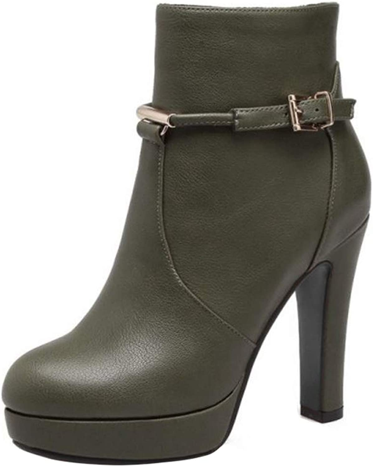 Onewus Women Casual Boots Fashion Ankle Boots