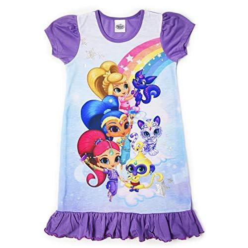 Camicie da notte per bambine a tema personaggi Disney, Re Leone, Aladdin, Cenerentola, Paw Patrol, La Sirenetta | Prodotto Ufficiale per bambini, abbigliamento da notte Brillante e brillante. 2-3 Anni