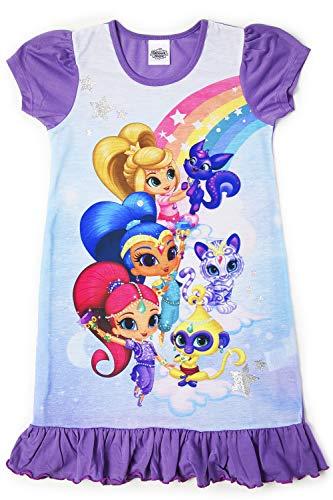Camisetas de princesa Disney con el Rey León, Aladino, Cenicienta, La Patrulla Canina, La Sirenita. Producto oficial para niños, camisón para princesas Brillo y brillo 4-5 Años