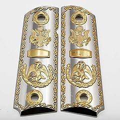 High quality gold - nickel 1911 metal pistol grips