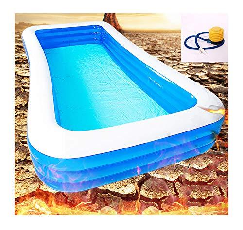 QWET Piscina inflable, piscina familiar de tamaño completo para niños y adultos, centro de natación, piscina para fiesta de agua de verano, 1,8 m